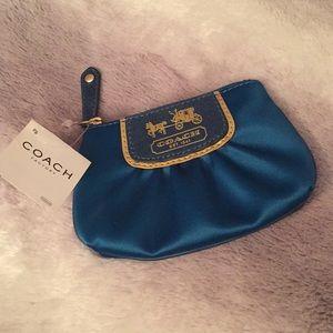 Coach Silk Teal Change-purse